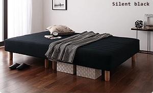 一体型マットレスベッド『新・色・寝心地が選べる!20色カバーリングマットレスベッド』