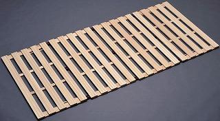 折りたたみすのこベッド ロータイプ『桐四つ折りすのこベッド 長板タイプ』