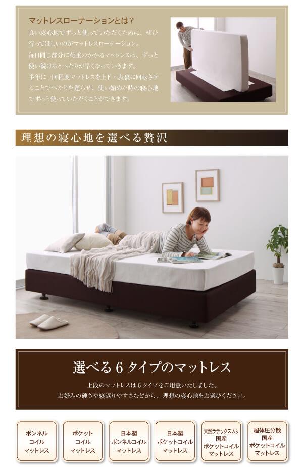シンプルベッドフレーム通販『ホテル仕様デザインダブルクッションベッド』