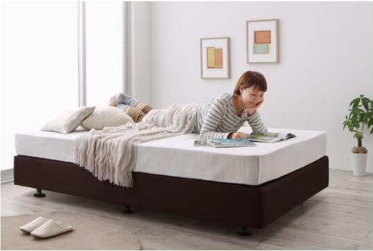ホテルのベッドのような寝心地のダブルクッションベッド『ホテル仕様デザインダブルクッションベッド』
