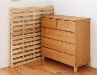 省スペース 脚なし折りたたみすのこベッド『通気孔付きスタンド式すのこベッド【AIR PLUS】エアープラス』