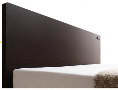 棚無し、ヘッドボード付き省スペースシンプルベッド『国産・デザインすのこベッド【Atchison】アチソン』