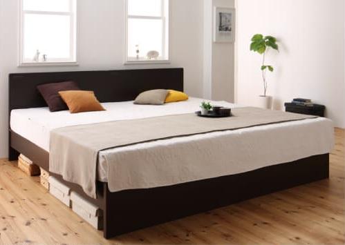 手をつないでゆったりお休みになれるベッド『国産・デザインすのこベッド【Atchison】アチソン』