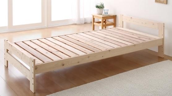 収納ベッドシングル通販 天然木収納ベッド
