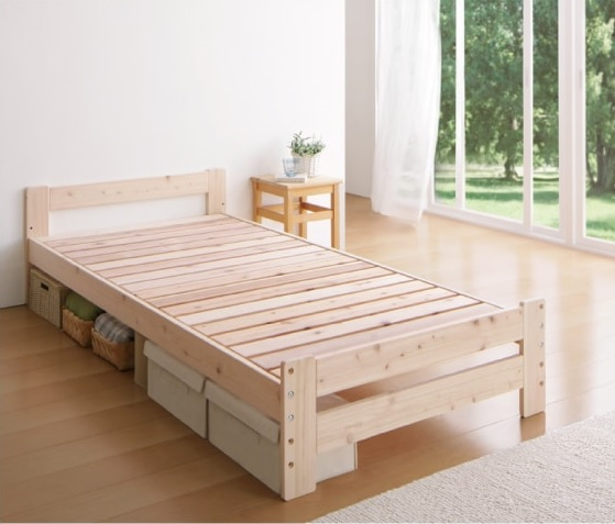 天然木ベッド『純国産シンプル檜天然木すのこベッド【BOSQUE】ボスケ』