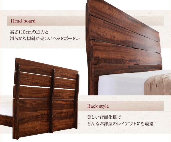 見た目ゴージャスなハイヘッドなプレミアムベッド『ハイヘッドデザインすのこベッド【Brat】ブラート』