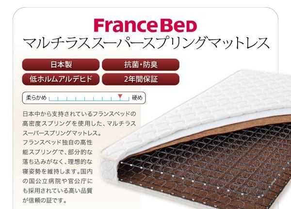 マルチラススーパースプリングマットレス 収納ベッド シングル