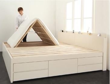 大きな収納タイプのすのこベッド『国産大容量収納ファミリーチェストベッド【COLRIS】コルリス』