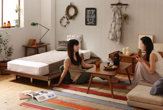 収納ベッドシングル通販 姫系ベッド『ショート丈 デザインボードベッド【Catalpa】キャタルパ』