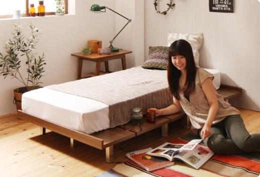 ロータイプの小さいベッド『ショート丈 デザインボードベッド【Catalpa】キャタルパ』