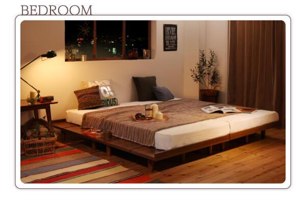 低いベッド通販『ショート丈 デザインボードベッド【Catalpa】キャタルパ』