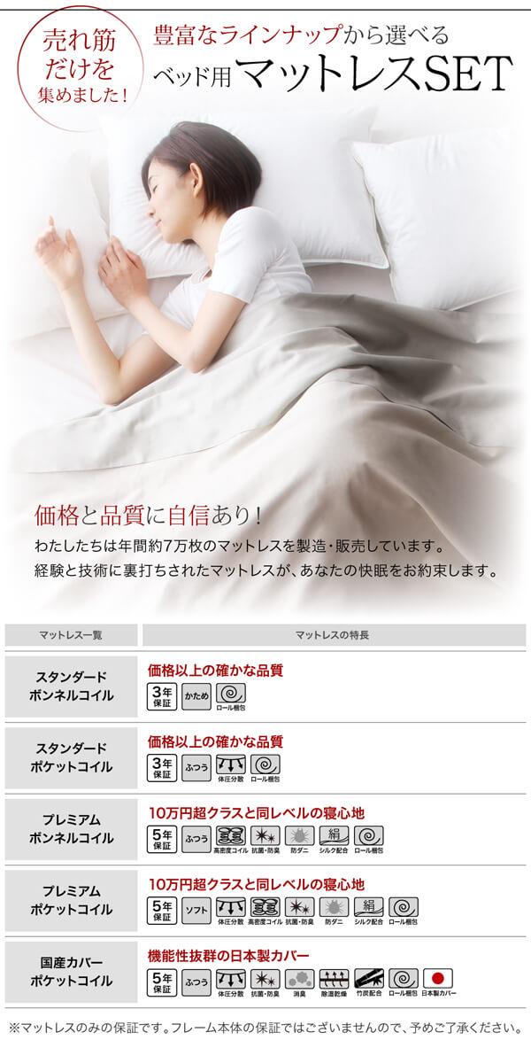 低いベッド通販『スリムモダンライト付きフロアベッド 【Crescent moon】クレセントムーン』