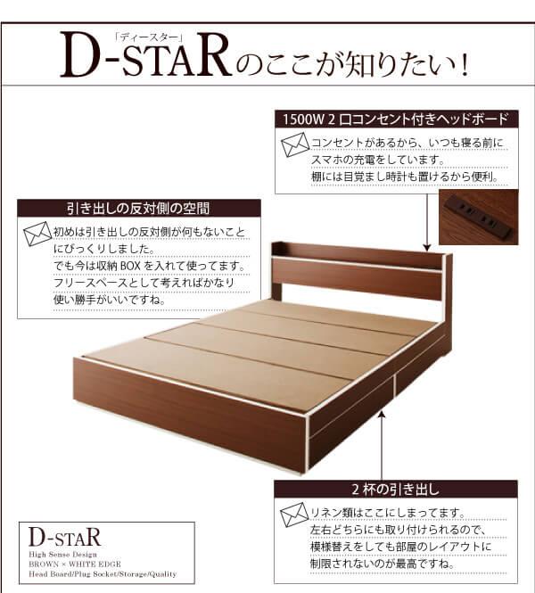 収納ベッド シングル通販ショップ『モダンデザイン・バイカラー_棚・コンセント付き収納ベッド【D-star】ディースター』