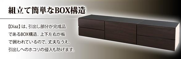 収納ベッドシングル通販 BOX構造収納ベッドのBOX部分