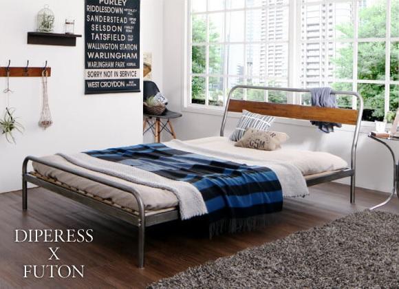 無骨ながらも、ナチュラルさを醸し出す『デザインスチールすのこベッド【Diperess】ディペレス』