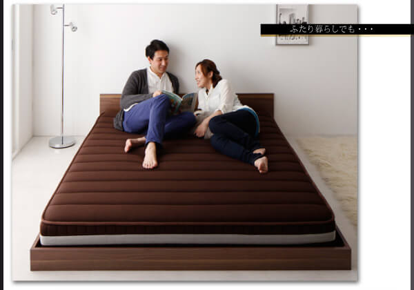 手をつないでゆったりお休みになれるベッド『モダンデザインベッド【Dormirl】ドルミール』