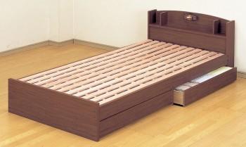 収納ベッドシングル通販 すのこ収納ベッド『ECOロングベッド』