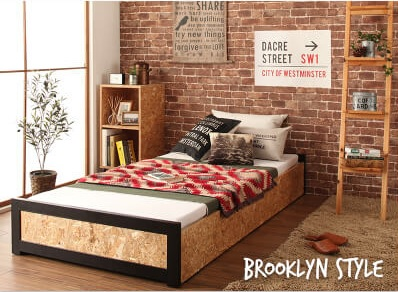 ブルックリンスタイルで決める男前ベッド『ヴィンテージデザインOSBすのこ【Elvin】エルヴィン』
