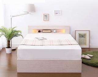 収納ベッド通販 白い北欧風1段チェスト収納ベッド