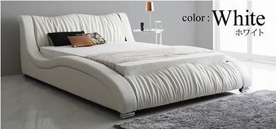 白いベッド『モダンデザイン・高級レザー・デザイナーズベッド【Fortuna】フォルトゥナ』