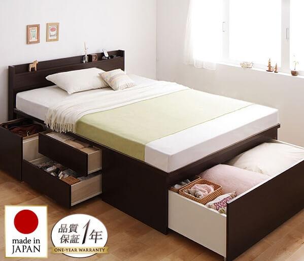 収納ベッドシングル通販 低ホルムアルデヒド建材の収納ベッド『布団が収納できる収納ベッド(チェストベッド) 【Fu-ton】ふーとん』