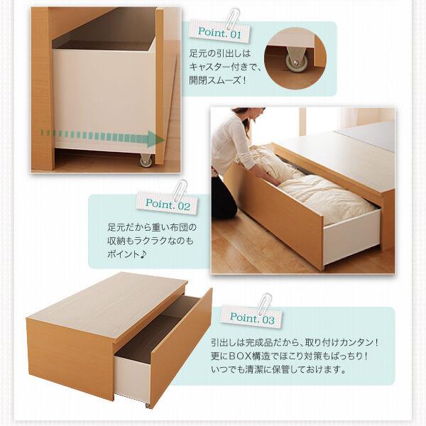 収納ベッドシングル通販 BOX構造収納ベッド『【Fu-ton】ふーとん 布団が収納できる収納ベッド(チェストベッド)』