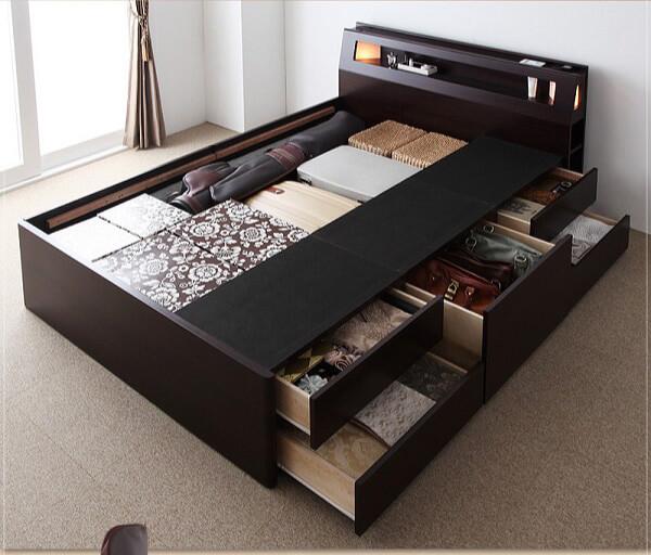ベッド収納機能 チェストタイプ収納ベッド