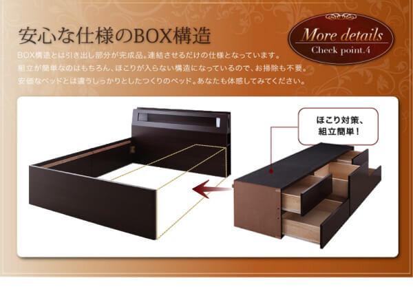 ホコリ対策付引出しタイプ収納ベッド シングル 【Granvia】グランヴィア