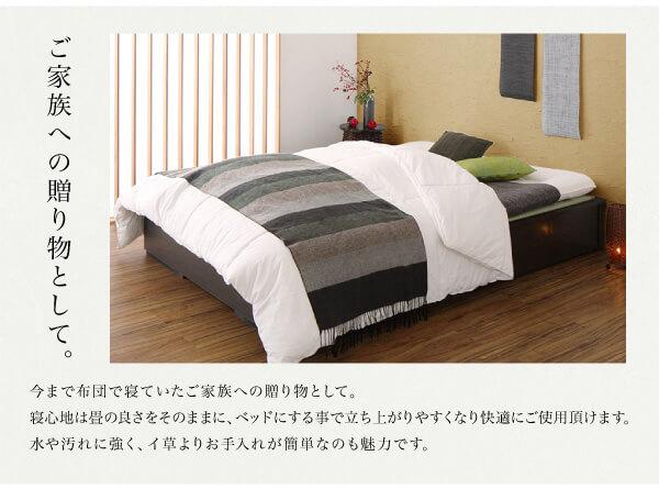 収納ベッドシングル通販 畳収納ベッド『美草・日本製 小上がりにもなるモダンデザイン畳収納ベッド【花水木】ハナミズキ』