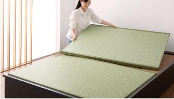 美草・日本製 小上がりにもなるモダンデザイン畳収納ベッド【花水木】ハナミズキ