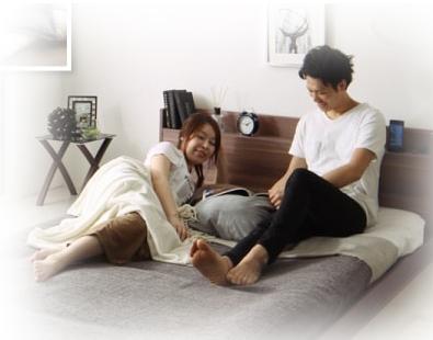 低いベッド通販 布団を敷いて使える低いベッド バナー