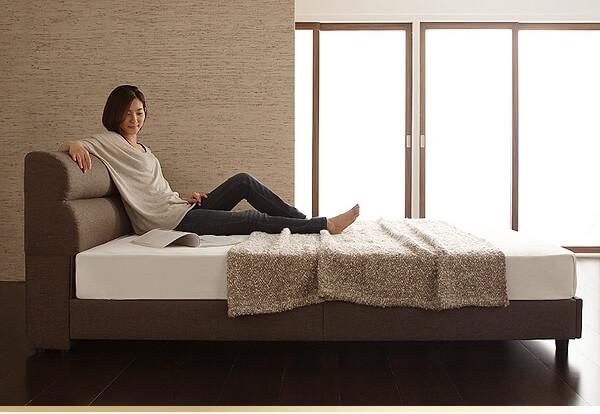 優しいファブリックのベッド『くつろぎデザインファブリックベッド【Hugel】ヒューゲル』