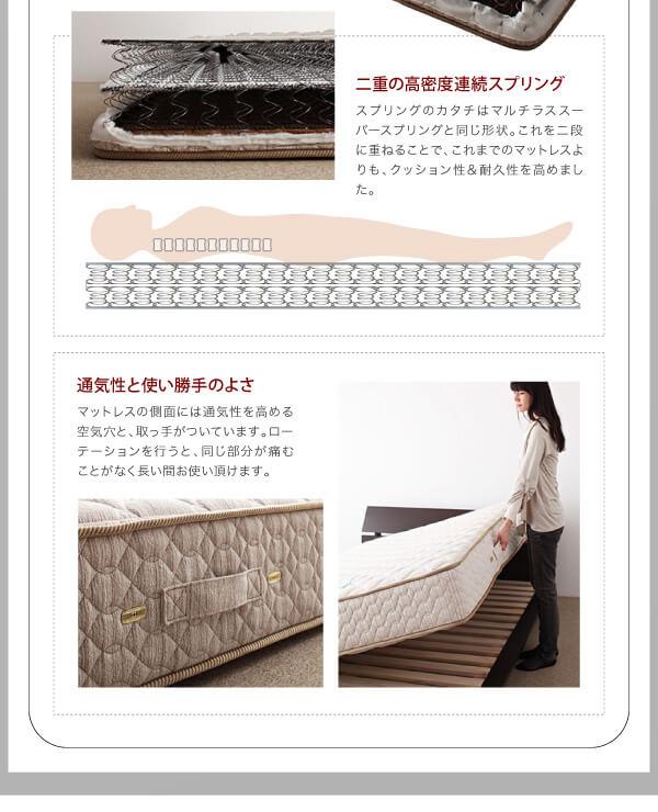 シンプルベッドフレーム通販『鏡面光沢仕上げ・モダンデザインすのこベッド【Morenoble】モアノーブル』
