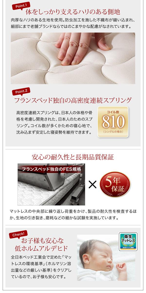 シンプルベッドフレーム通販『棚・コンセント付デザインすのこベッド【Mowe】メーヴェ』