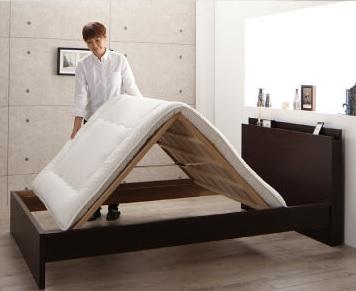一人暮しに便利な布団が干せるベッド