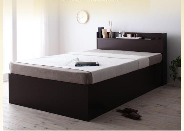 すのこ収納ベッド『シンプルデザイン大容量収納庫付きすのこ&収納ベッド【Open Storage】オープンストレージ』