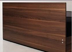 収納ベッドシングル通販 ウォールナット柄 背面化粧の収納ベッド『シンプルモダンデザイン・収納ベッド 【Pleasat】プレザート』