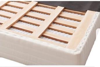 マットレスとすのこ床板が一体型『すのこ構造_棚・コンセント付き_ガス圧式大容量跳ね上げベッド【Prepare】プリペール』のすのこ
