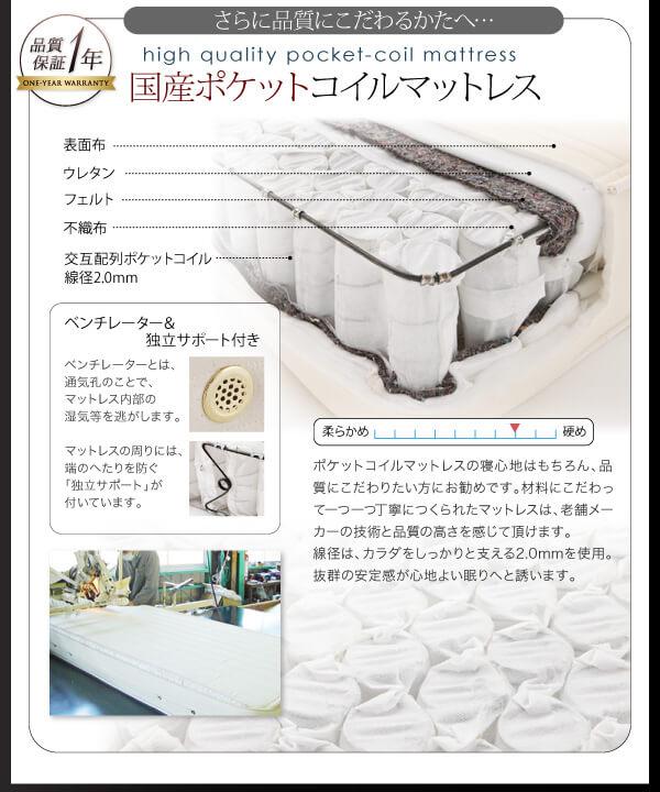 収納ベッドシングル通販 『モダンライト・コンセント付き収納ベッド【RYUSEI】リュウセイ』
