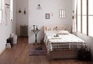 白い収納ベッドシングル『ショート丈天然木カントリー調コンセント付き収納ベッド 【Reine】レーヌ』