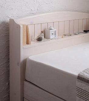 収納ベッドシングル通販 収納ベッドには、曲線を多く使った姫系のかわいいベッドが多い