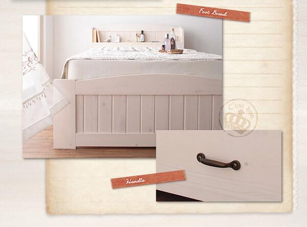可愛いベッドにおすすめのカラーのホワイトウォッシュ