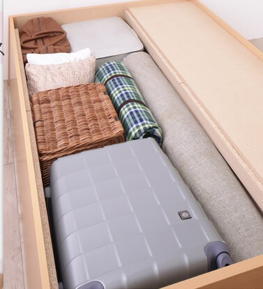 2段チェスト収納ベッド『国産 清潔すのこ ヘッドレスチェストベッド【Renitsa】レニツァ』