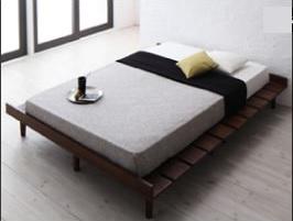シンプルベッドフレーム通販『デザインすのこベッド【Resty】リスティー』ワイドステージタイプベッド