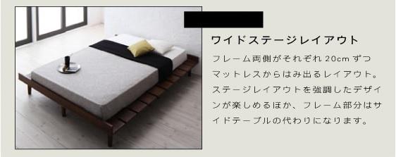 ステージレイアウトでスタイリッシュに決める男前ベッド『デザインすのこベッド【Resty】リスティー』