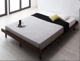シンプルベッドフレーム通販『デザインすのこベッド【Resty】リスティー』ナローステージタイプベッド