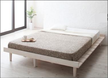 白いレッグタイプベッド『デザインすのこベッド【Resty】リスティー』