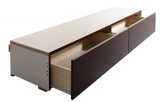 長く使いたい収納ベッドならチェストタイプベッド『長く使える棚・コンセント付国産頑丈2杯収納ベッド【Rhino】ライノ』