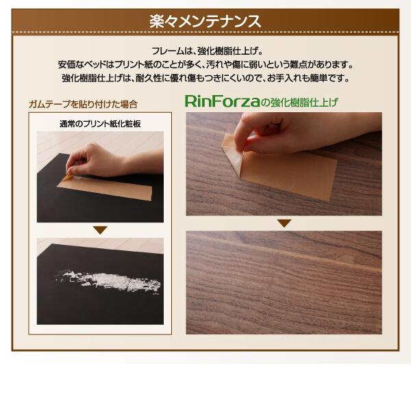 低いベッド通販『頑丈デザインすのこベッド【RinForza】リンフォルツァ』