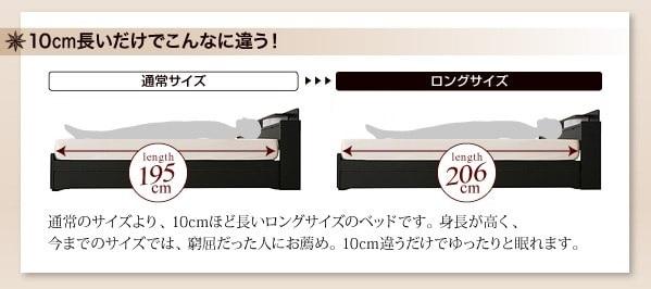 ベッド丈の長いベッドとは